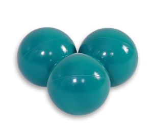 Plastic balls for the dry pool 50pcs - dark turquoise