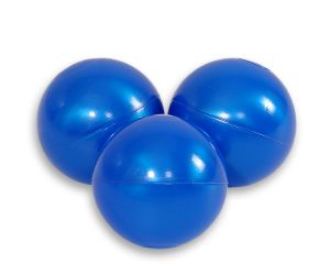 Plastic balls for the dry pool 50pcs - pearl blue