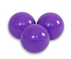 Plastic balls for the dry pool 50pcs - lilac