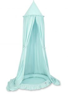 Set: Hanging canopy + Nest with flounce- mint