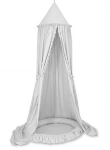 Set: Hanging canopy + Nest with flounce- gray